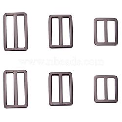 Boucle en alliage de zinc, rectangle, gunmetal, 27x32x2.5 mm; diamètre intérieur: 24.5x8 mm(PALLOY-PH0012-71)