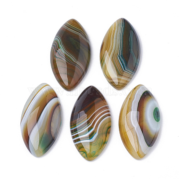 Natural Brazilian Agate Cabochons, Dyed, Horse Eye, 40x19.5x5~6.5mm(X-G-S295-02)