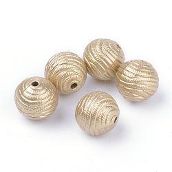 Perles acryliques laquées, Style mat, rond, or, 11.5mm, trou: 1.5 mm; environ 520 pcs / 500 g(ACRP-S667-33)