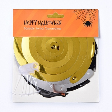 Halloween Decorations, Indoor Hanging Swirls, for Haunted House Decor Ceiling Swirl Decoration, Mixed Color, 20x20.7x1cm(DIY-E029-02)