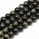 Natural Golden Sheen Obsidian Beads Strands(X-G-S150-20-8mm)-1