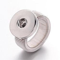 Регулируемые железные поделки кнопки компоненты под стопорное кольцо, с латунной снимки, платина, 19 мм; кнопки в 6 мм (X-IFIN-R166)