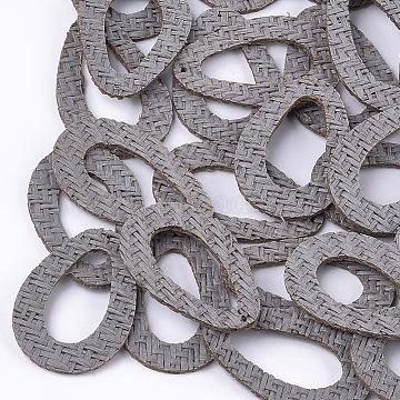 48mm Gray Drop Rattan Pendants