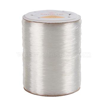 Germany Elastic Crystal Thread, Stretch Bracelet String, DIY Jewelry Beading Stretch Cord Findings, Clear, 0.8mm, about 1093.61 yards(1000m)/roll(OCOR-O001-0.8mm-01)