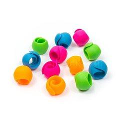 Pinces à fil à coudre, silicone, couleur mixte, 90x20 mm; 12 pcs / sac(TOOL-WH0015-17)