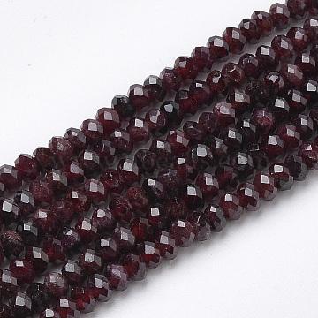 4mm Rondelle Garnet Beads