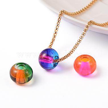Spray Painted Glass European Beads(X-DGLA-R016-12mm-M)-2