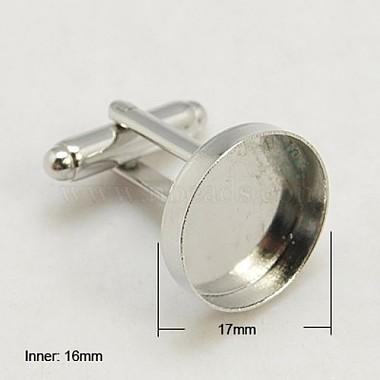 Brass Cuff Button(X-KK-G175-N)-2