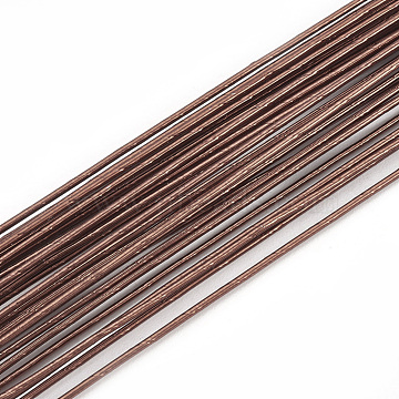 Iron Wire, Coconut Brown, 26 Gauge, 0.4mm, about 2.62 Feet(80cm)/strand; 50strand/bag(MW-S002-01B-0.4mm)