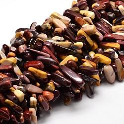 "Mookaite naturelle perles de puce brins, 8~30x5~12mm, trou: 1 mm; environ 15.3""~15.7""(G-E271-48)"
