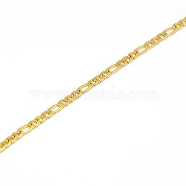 304 Stainless Steel Figaro Chain Necklace Making(X-STAS-A028-N022G)-2