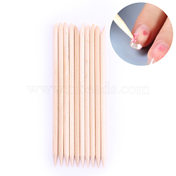 Orange Wood Stick, Cuticle Pusher Remover, Manicure Pedicure Tool, AntiqueWhite, 17.5x0.7cm; 5pcs/set(MRMJ-P001-40)