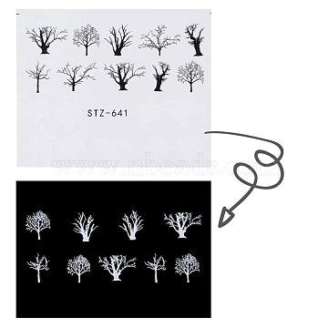 наклейки для ногтей, самоклеящийся, для украшения ногтей, черный, 6.3x5.2 cm(X-MRMJ-Q042-C07)