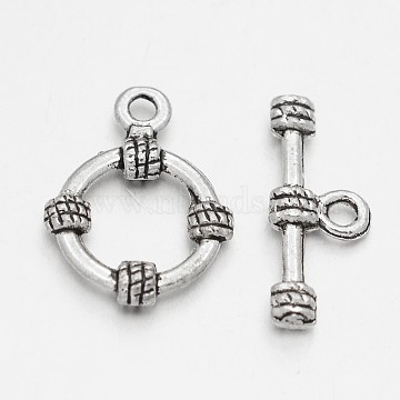 Antique Silver Ring Alloy Toggle and Tbars