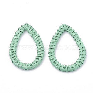 47mm Aquamarine Drop Others Linking Rings