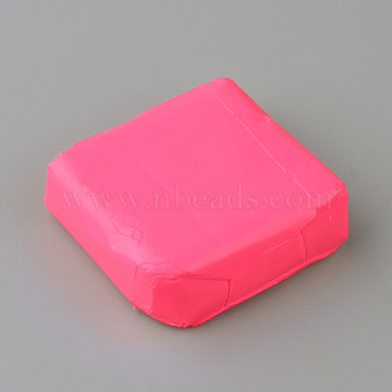 Eco-Friendly Polymer Clay Plasticine Toys, Children DIY Art Colorful Dough Plasticine DIY Craft, For Learning and Education Toys, Deep Pink, 50~52x50~52x14~18mm(X-DIY-Q012-03)