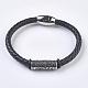 Men's Braided Leather Cord Bracelets(BJEW-P194-03)-1