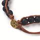 Natural Lava Cord Beaded Bracelets(BJEW-E351-02I)-3