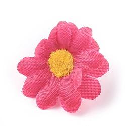 tournesol en tissu de soie, tête de fleur artificielle, pour la décoration de fête de mariage, cerise, 40x16~17 mm; diamètre intérieur: 2 mm(DIY-WH0134-A02)