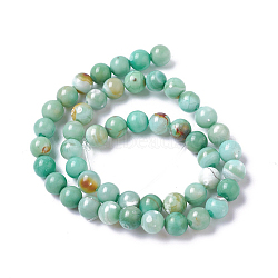Natural Dyed Agate Imitation Turquoise Beads Strands, Round, MediumSea Green, 12mm, Hole: 1mm, about 30~32pcs/strand, 14.88inches~15.15''(37.8~38.5cm)