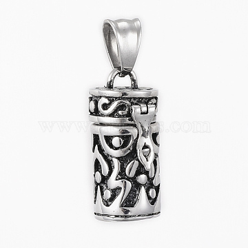 Antique Silver Column Stainless Steel Pendants