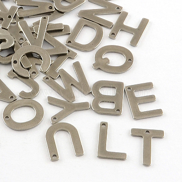 Stainless Steel Color Alphabet Stainless Steel Charms