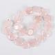 Natural Rose Quartz Flat Round Beads Strands(G-E243-06)-2