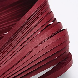 Bandes de papier quilling, DarkRed, 530x5mm; à propos 120strips / sac(X-DIY-J001-5mm-B32)