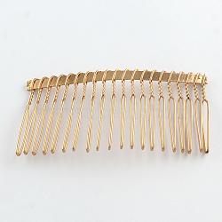Accessoires de peigne de cheveux en fer, or, 38x75x5mm(OHAR-R267-03)
