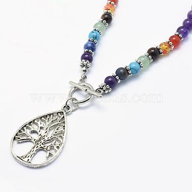 Tibetan Style Alloy Pendant Necklaces(NJEW-F170-A05)-2