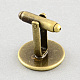 Brass Cuff Settings(X-KK-S132-18mm-KN001AB)-1