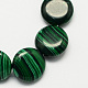Flat Round Synthetic Malachite Beads Strands(X-G-S110-11)-1