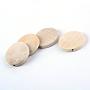 30mm Blanc Navajo Rond Plat Bois Perles(X-WOOD-S659-08-LF)