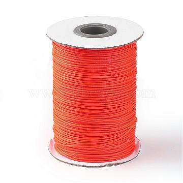 Korean Waxed Polyester Cord, Dark Orange, 1mm; about 85yards/roll(YC1.0MM-A183)