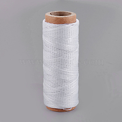 Waxed Polyester Cord, WhiteSmoke, 1mm; about 50m/roll(YC-R006-100)