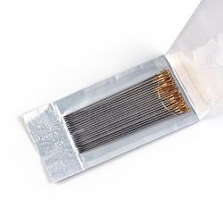 Железа гобелены иглы, платиной и золотом, 45x0.8 мм, отверстия: 2x0.5 мм; около 20 шт / мешок(IFIN-R219-06)
