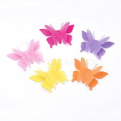 Cabochons en acrylique de couleur pure, papillon, couleur mixte, 52x78x20mm(X-SACR-S073-M)