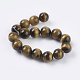 Natural Tiger Eye Beads Strands(G-C076-12mm-1B)-2