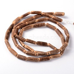 Natural Coconut Column Bead Strands, 10~19x2.5~4mm, Hole: 1mm; about 48pcs/strand, 29.5 inches(X-COCB-O001-10)