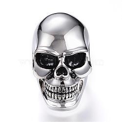 Bagues en 316 acier inoxydable, anneaux crâne, taille 7~13, argent antique, 18~22mm(RJEW-G075-01P-M)