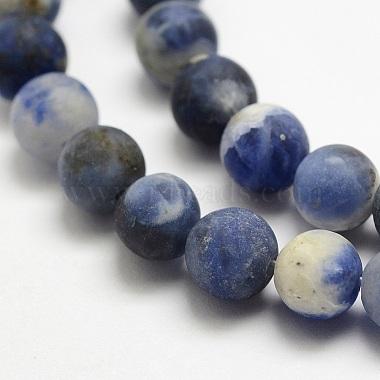 Natural Sodalite Beads Strands(G-J364-01-12mm)-3