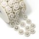 Wedding Dress Decorative Brass Glass Rhinestone Chains(CHC-R127-02)-1