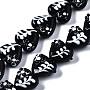 Black Heart Lampwork Beads(LAMP-N021-027A)
