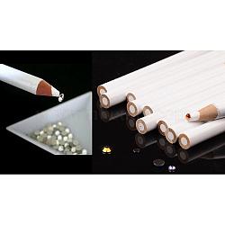 Nail art dotting outils, stylos brosse à ongles gel uv, peinture pinceaux de ligne de dessin, blanc, 17.5x0.8 cm(MRMJ-S006-41)