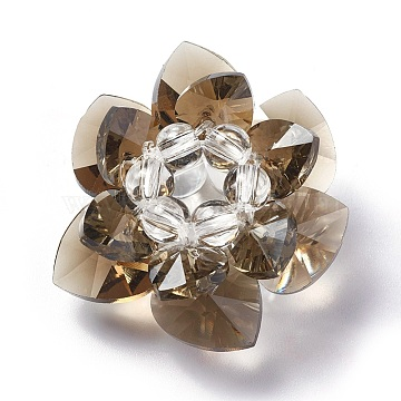 35mm Camel Flower Glass Beads