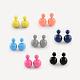 Double Side Acrylic Ball Stud Earrings(EJEW-S188-M)-1