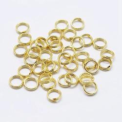 925 anneaux à double boucle en argent sterling, anneaux ronds, or, 7x1 mm; diamètre intérieur: 5.5 mm(STER-F036-01G-0.6x7mm)