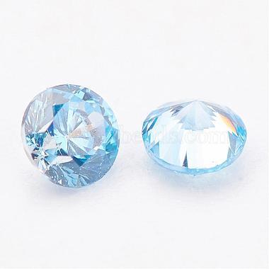 Cabochons de zircon cubiques aquamarine(ZIRC-G081-7mm)-3