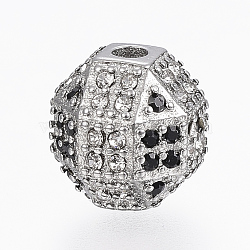 304 Stainless Steel Rhinestone Beads, Round, Stainless Steel Color, 10mm, Hole: 2mm(STAS-A033-032P)