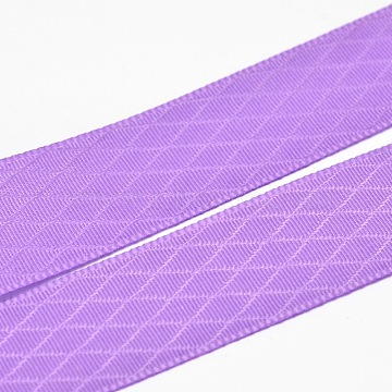 Polyester Grosgrain Ribbons for Gift Packing, MediumPurple, 7/8inch(22mm); about 100yards/roll(91.44m/roll)(SRIB-L017-022-463)